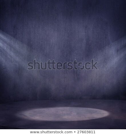Empty grungy scene with 2 light spots  Stock photo © konradbak
