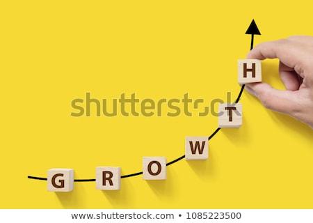 büyüme · kelime · iş · adamı · tırmanmak · adam · arka · plan - stok fotoğraf © fuzzbones0