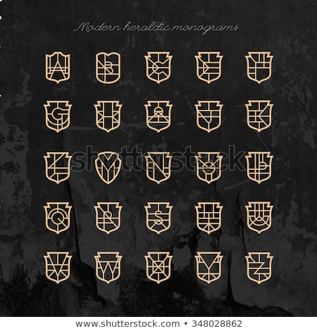 Set of classical logo or monogram design. Letters I, J, K, L Stock photo © netkov1