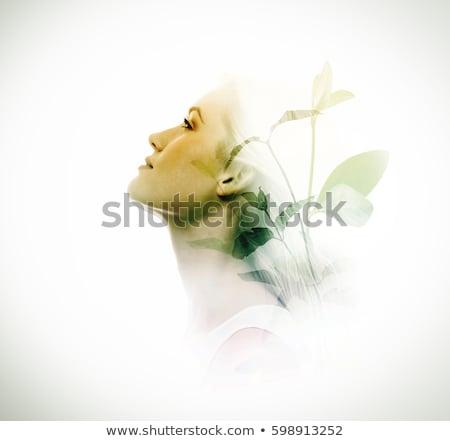 moda · retrato · topless · mulher · jovem · make-up · molhado - foto stock © amok