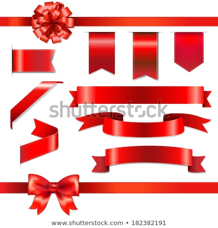 Set of red ribbons stock photo © elgusser