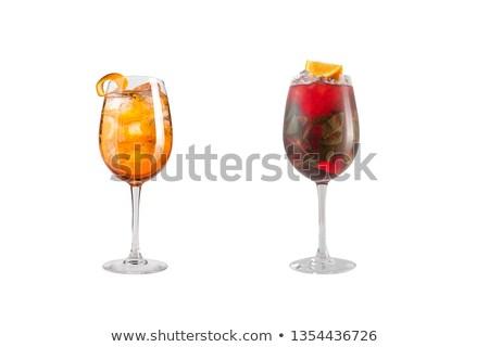 bevroren · zomer · drinken · silhouet · strand - stockfoto © escander81