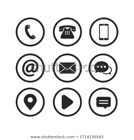 электронная почта символ икона интернет дизайна контакт Сток-фото © kiddaikiddee