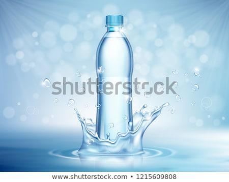Három üvegek ásványvíz fehér víz üveg Stock fotó © dezign56