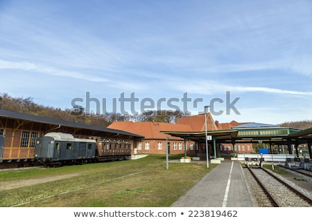 famous old train station in seebad heringsdorf stock photo © meinzahn