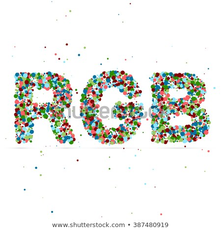 rgb word consisting of colored particles stock photo © netkov1