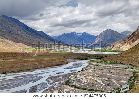 Agricultural field Spiti Valley, Himachal Pradesh, India Stock photo © cookelma