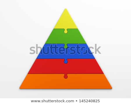 five color puzzle pyramid stock photo © oakozhan