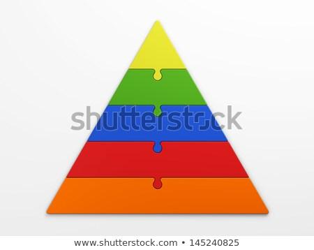 Five color puzzle pyramid Stock photo © Oakozhan