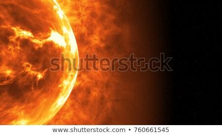 nagy · piros · csillag · nap · naplemente · horizont - stock fotó © almir1968