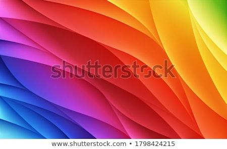 clean colorful wave background design illustration Stock photo © SArts