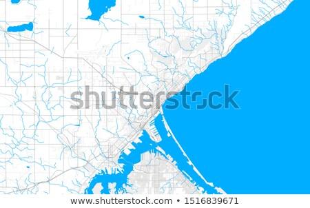 市 · ピン · 地図 · ビジネス · 水 · 道路 - ストックフォト © alex_grichenko