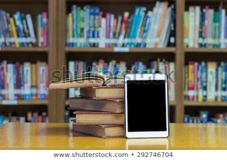 Ebook lettore libro schermo nero coprire Foto d'archivio © Koufax73