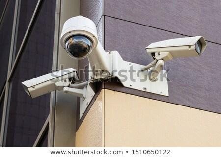 Security camera on yellow wall Stock photo © stevanovicigor