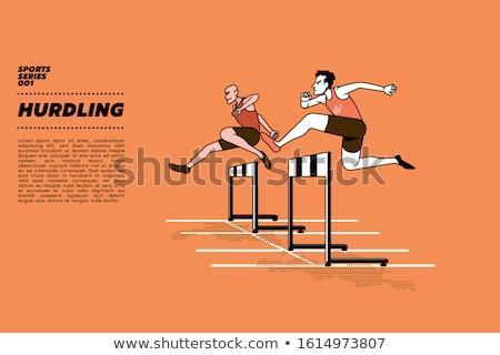 Running track hurdle Stock photo © njnightsky