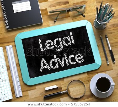Hukuk küçük kara tahta 3D yeşil Stok fotoğraf © tashatuvango