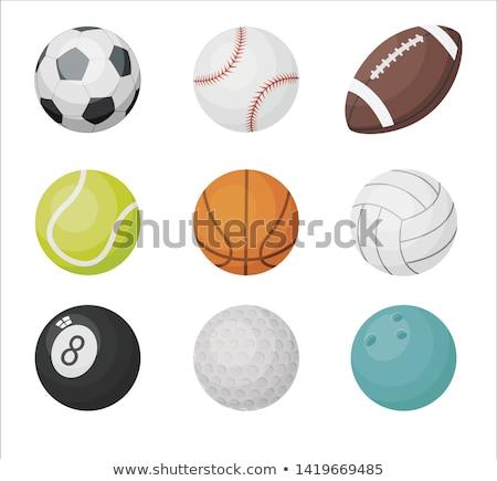 White volleyball ball vector cartoon illustration. Stock photo © RAStudio