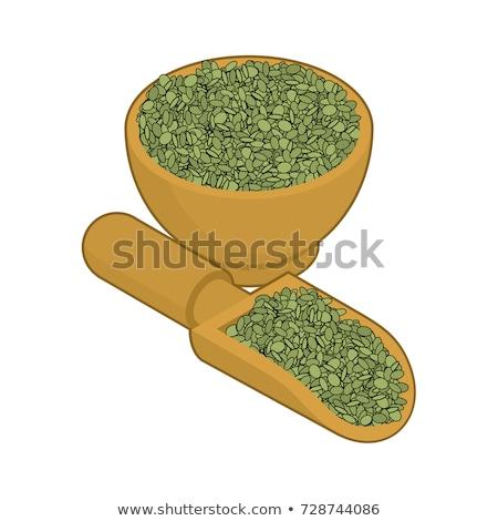 緑 木製 スクープ 孤立した 木材 ストックフォト © MaryValery