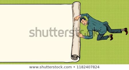 işadamı · duyurmak · vektör · afiş · dizayn · adam - stok fotoğraf © studiostoks