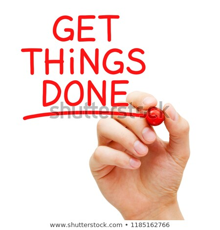 Get Things Done Red Marker Concept Stock photo © ivelin