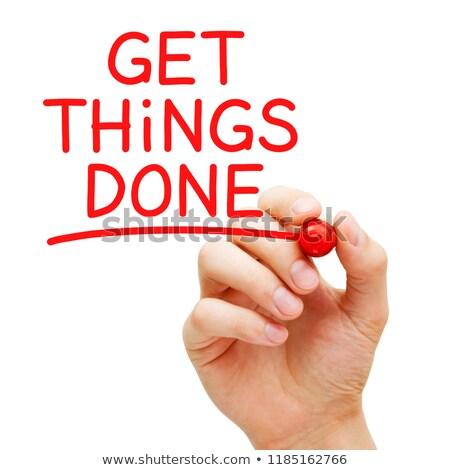 coisas · produtividade · motivação · lembrete · isolado · texto - foto stock © ivelin