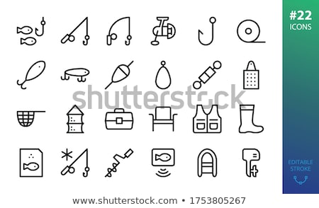 Icon of Fishing winter tackle  Stock photo © angelp