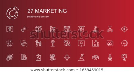 Crowdfunding Poster Icons Set Vector Illustration Stock photo © robuart