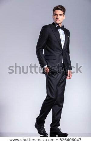笑みを浮かべて 小さな エレガントな 男 タキシード スーツ ストックフォト © feedough