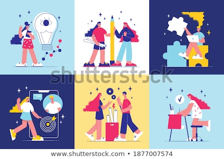 Stock photo: Ideas Implementation Poster Vector Illustration