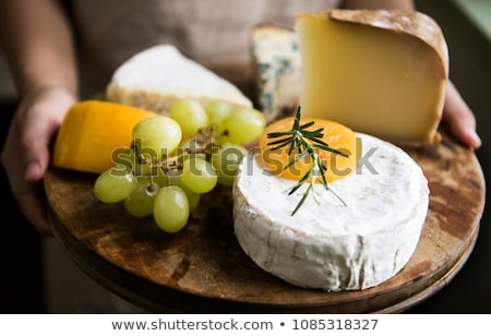 Camembert with green grapes Stock photo © Alex9500