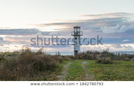 Deniz feneri mavi saat şafak fener Stok fotoğraf © lovleah