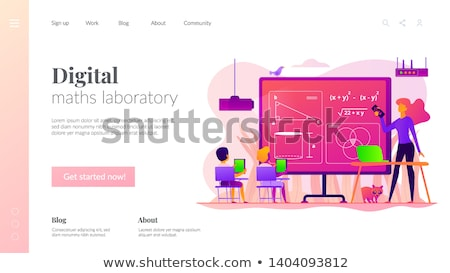 Digital classroom app interface template. Stock photo © RAStudio