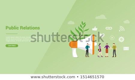 Közönségszolgálat leszállás oldal pr menedzserek kommunikál Stock fotó © RAStudio