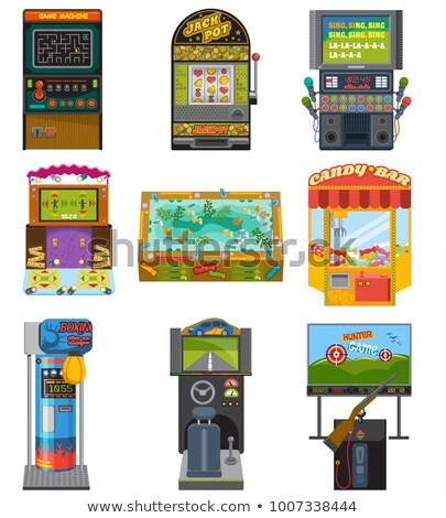 Spiel Maschinen spielen Glücksspiel Set Vektor Stock foto © robuart