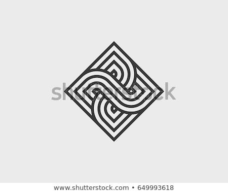 Geométrico logotipo monograma projeto templates moderno Foto stock © ivaleksa