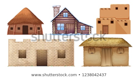 Set of different culture houses Stock photo © colematt