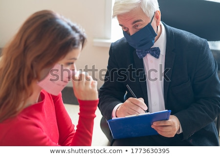 Woman Visiting Psychologist To Treat Depression Stock photo © AndreyPopov