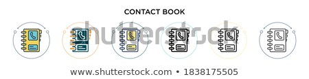 contact info filling form set vector illustration stock photo © robuart