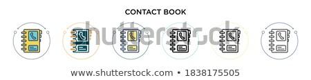szett · posta · ikon · nyitva · boríték · új - stock fotó © robuart