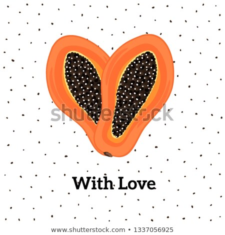 Vetor fruta tropical coração criador artístico estilo Foto stock © user_10144511