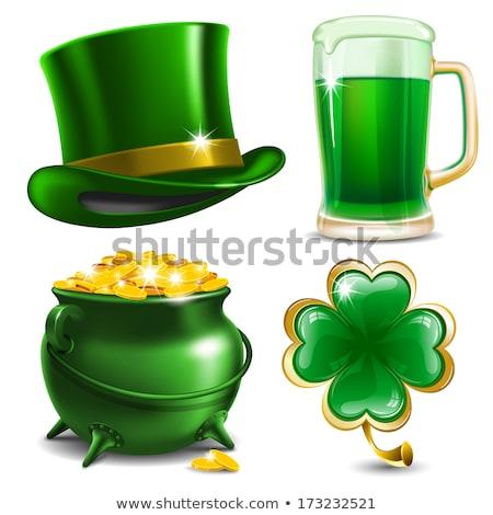 vector · establecer · día · de · san · patricio · iconos · fondo · verde - foto stock © natali_brill