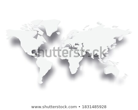 Illustration of extruded gray map Stock photo © biv