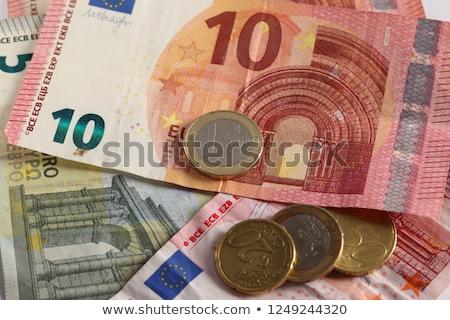 Euro bankjegyek érmék pénz doboz kilátás Stock fotó © AndreyPopov