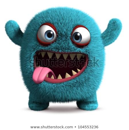 cute blue fantasy cartoon character Stock photo © izakowski