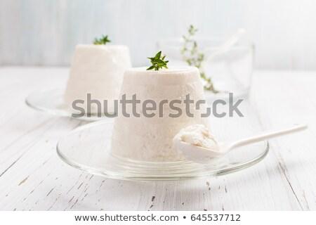 Italiano queso negro fondo verde leche Foto stock © Alex9500
