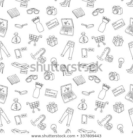Online shopping set pattern Stock photo © netkov1