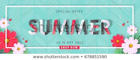 Spring and Summer Banners with Sales and Discounts Stock photo © robuart