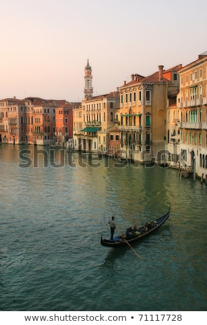 An Old Houses Along The Venice Grand Canal Stock photo © AndreyPopov