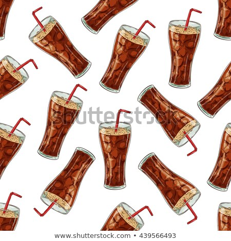 Seamless pattern scetch and color cola cup Stock photo © netkov1
