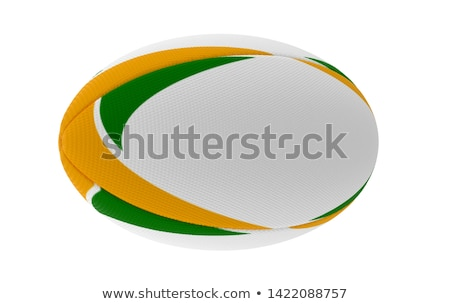 мяч для регби зеленый желтый белый напечатанный Сток-фото © albund